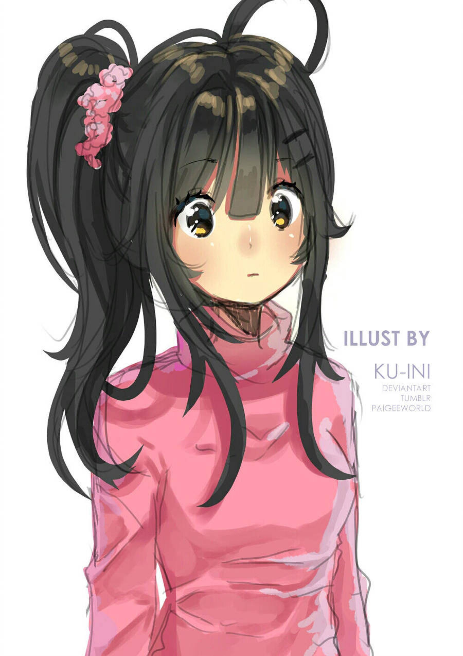 Pink By Ku Ini On Deviantart Yandere Girl Yandere Simulator
