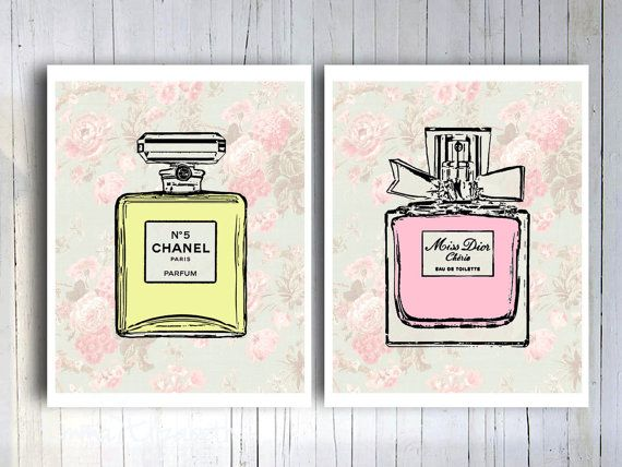 Chic Wall Decor french perfume cottage chic wall decor mixed media vintage pink