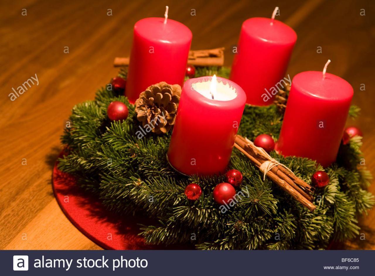 Bilder Adventskranz 1 Kerzen Adventskranz Kerzen Advent