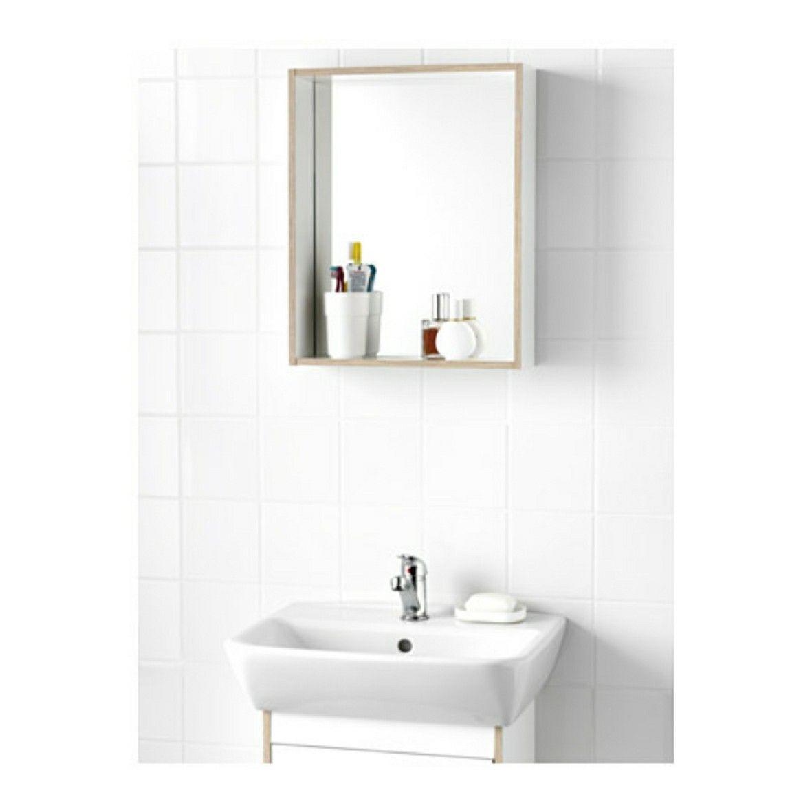 Pin by Yi LI on Deco 2017FW Mirror with shelf, Ikea