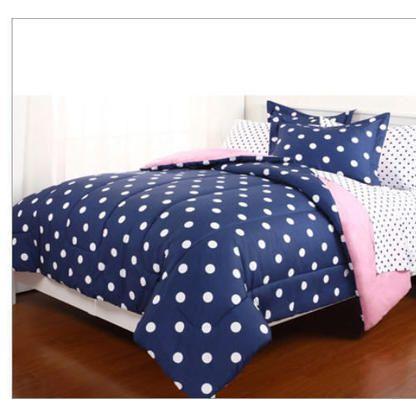 Teen Spirit Blue Amp White Polka Dot Reversible Girls Twin