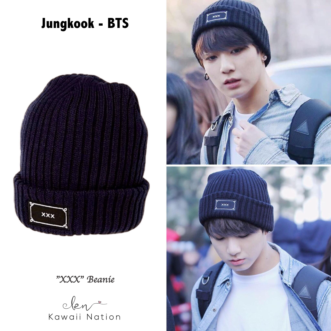 Knitted Beanie Inspired By Jungkook From Bts And N From Vixx Material Acrylic Bts Clothing Bts Inspired Outfits Beanie