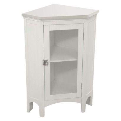 Elegant Home Fashions Madison Avenue Corner Floor Cabinet White