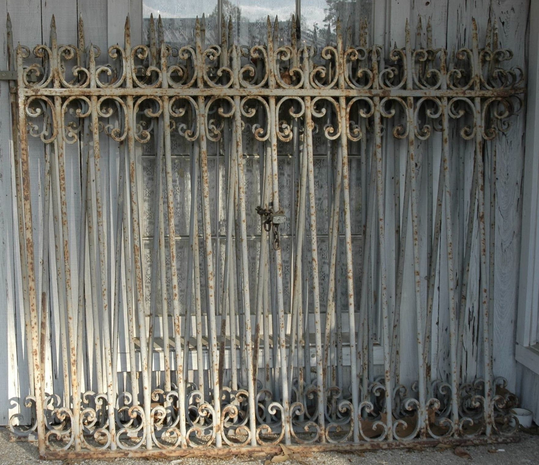 French Painted Iron Fencing 16 Feet Total Fireside Antiques