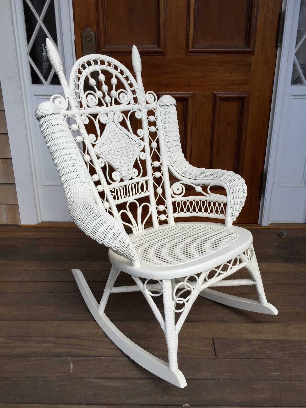 Black Wicker Rocking Chairs Antique Victorian Wicker Quotemma Quot Rocker Black White And