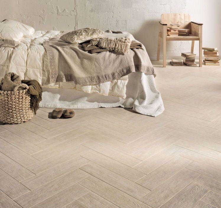 Marazzi Espana Habitat Sypialnia Kremowa Wood Effect Floor Tiles Flooring Tiles