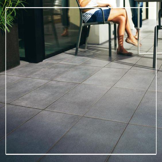 Carrelage terrasse anthracite 30 x 60 cm COLOURS Rigatum Bricolage
