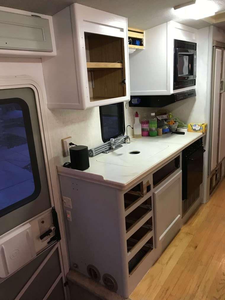 RV Kitchen Cabinets In Progress.
