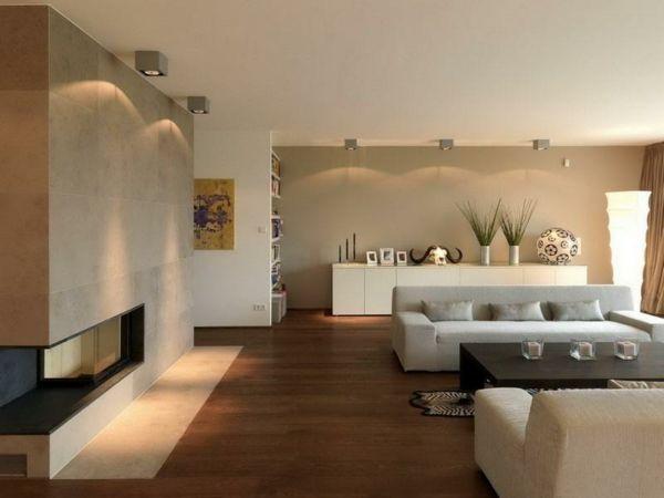 Wandfarben Ideen für eine stilvolle und moderne Wandgesteltung - farbideen wohnzimmer braun