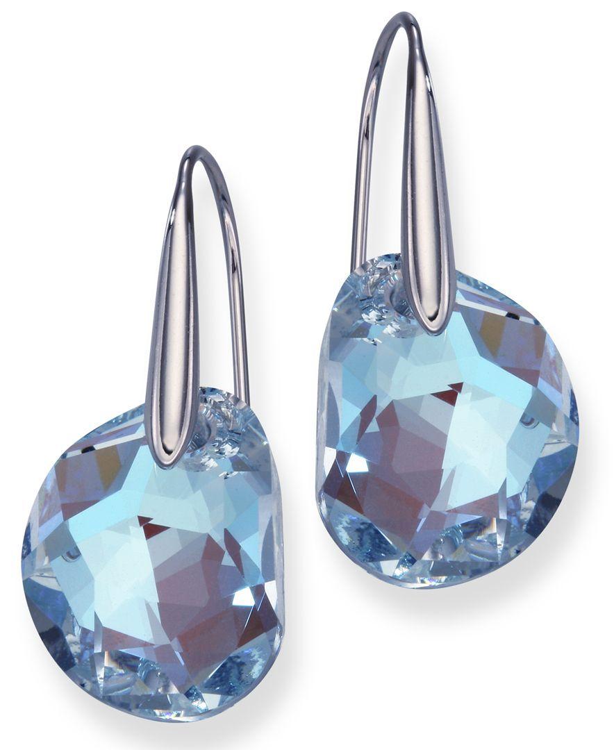 Swarovski Galet Earrings Reviews Earrings Jewelry Watches Macy S Swarovski Jewelry Diamond Earrings Studs Round Swarovski Earrings