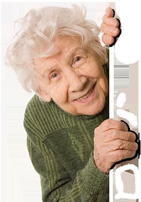 Eine Lustige Altere Frau Schaut Um Die Ecke Charakter Frauen Old