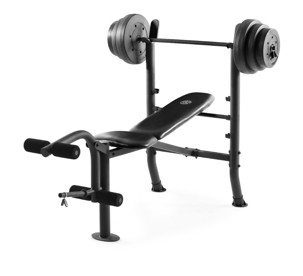 Gold S Gym Xr 8 1 Combo Weight Bench With 100 Lb Vinyl Weight Set Walmart Com Bars For Home Weight Set Weight Benches