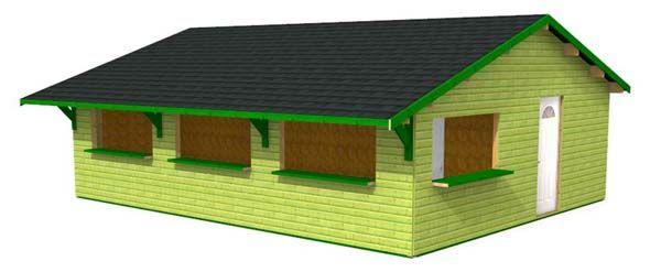 buvette bois en kits abri jardin en bois Pinterest - construire une cabane de jardin en bois