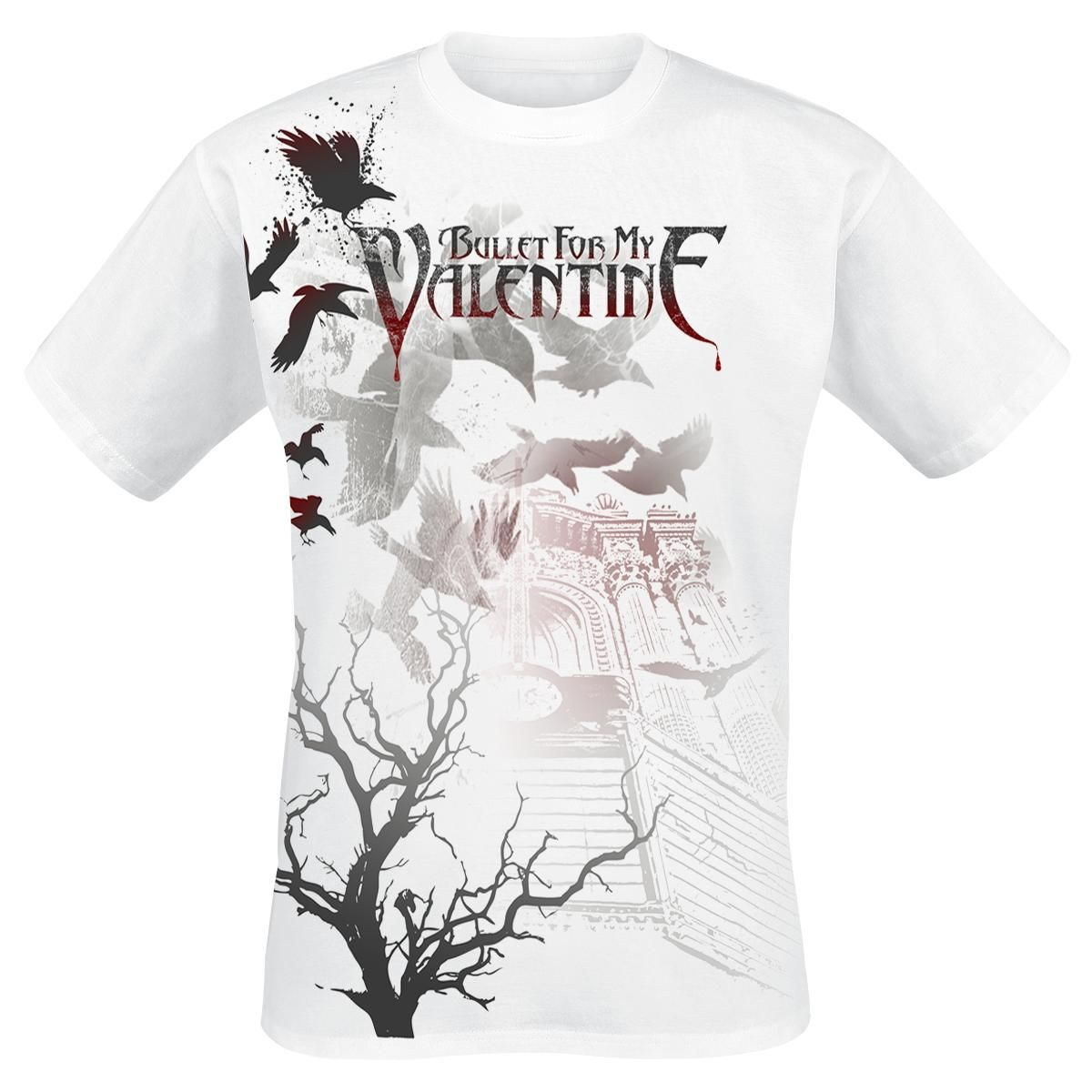 Bullet For My Valentine Crows T Shirt (front)
