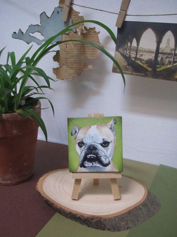 Custom Pet Portrait mini oil painting on canvas by BrittneyWest, $65.00