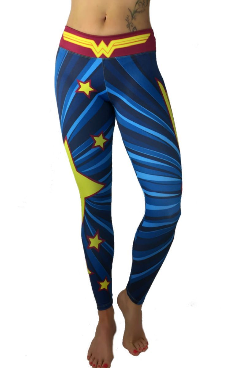 9ff907d55e1fe Exit 75 - Wonder Woman Yellow Star Leggings   Products