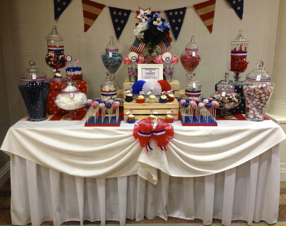 Freedom is sweet dessert bar patriotic themed retirement for Air force decoration
