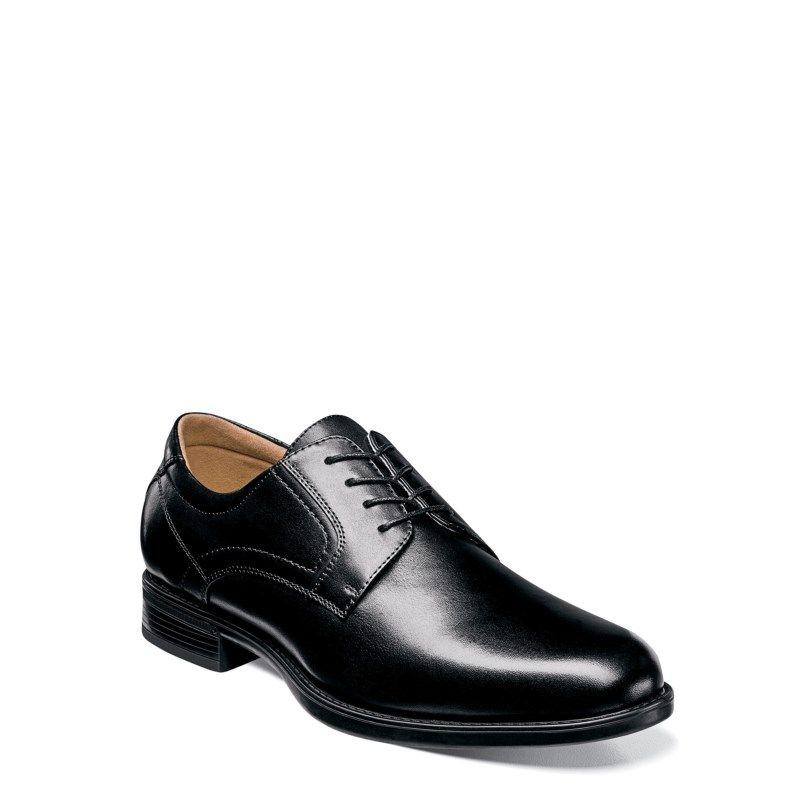 Florsheim Men's Midtown Medium/X-Wide Plain Toe Oxford Shoes (Black Leather)