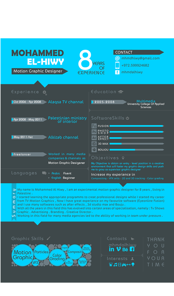 Really Bright Bold Color Scheme That Stands Out As Well As A Cool Graphic Concept At That Bottom Res Resume Design Free Resume Design Creative Resume Design