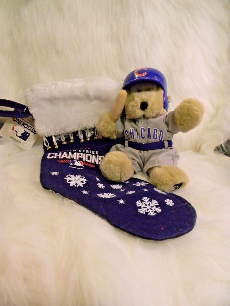 a3dc19f3d7d Chicago Cubs Christmas Stocking 2016 World Series Champions and Teddy Bear  Cub  Topperscot  ChicagoCubs
