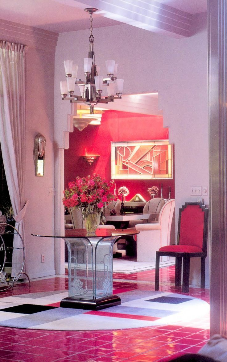 80s Art Deco Revival 80s Interior Design Interior Deco Pink