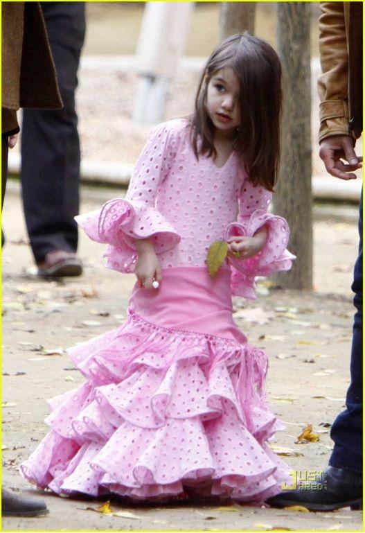 Suri Cruise in cute Flamenco Dress