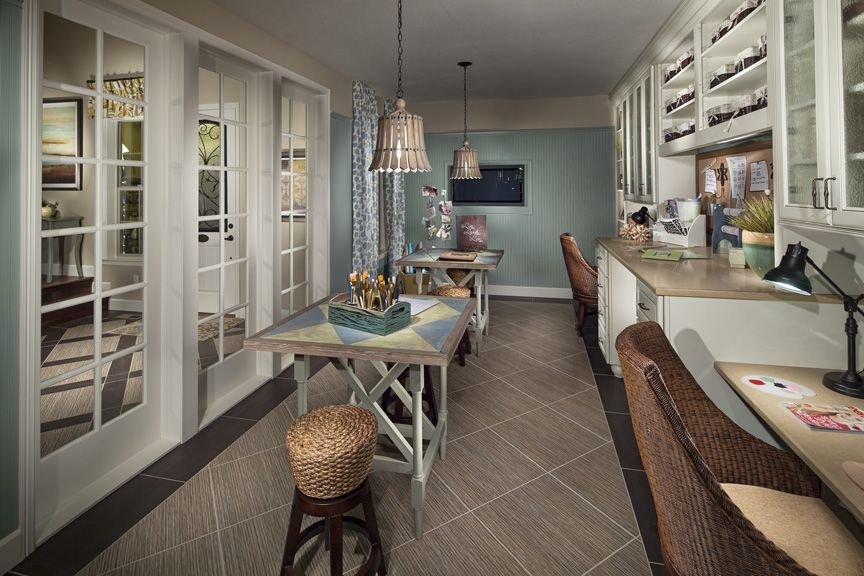 How Would You Design This Hobby Room In Your Home? The Northern Sky Model  Home