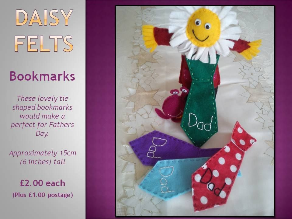 2-daisy-felts-fathers-day-dad-inspired-bookmarks.jpg (960×720)