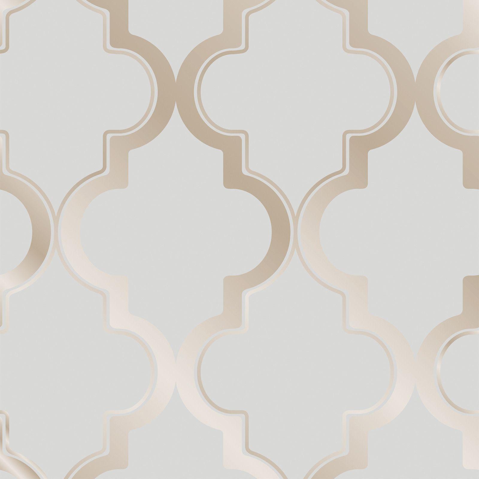 Marrakesh Self Adhesive Wallpaper in Bronze Grey design by