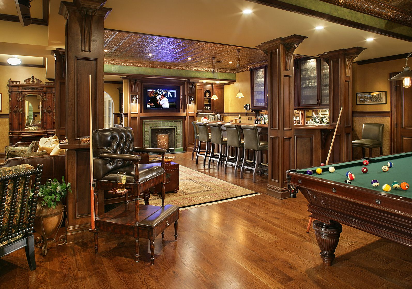 pub inspired basement bar and pool table keller pinterest. Black Bedroom Furniture Sets. Home Design Ideas