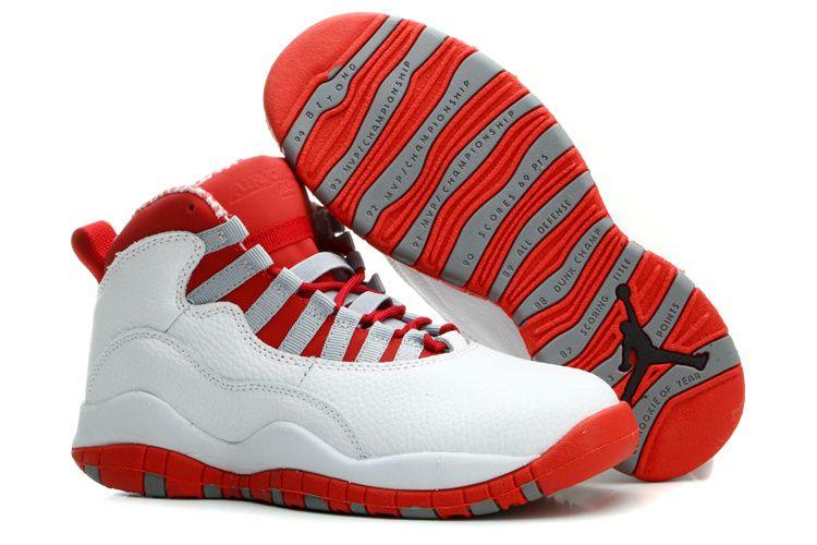 Vind Air Jordans 10 Retro White/ Varsity Red For Sale online of in Jordany.  Shop Top Brands en de nieuwste stijlen Air Jordans 10 Retro White/ Varsity  Red ...