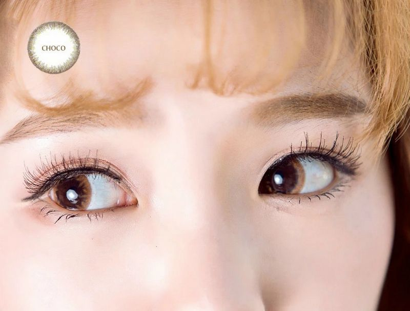 cosmetic colorful contact lenses misty eye makeup chocolate