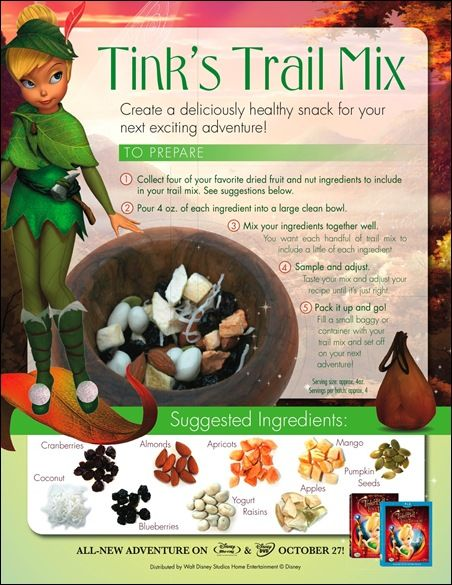 Healthy cooking with Tinker Bell and the Lost Treasure