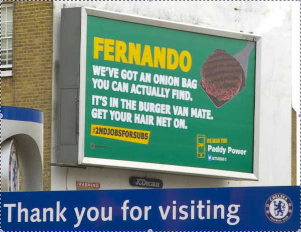 Sometimes you just have to love Paddy Power! #torrres #wehearyou