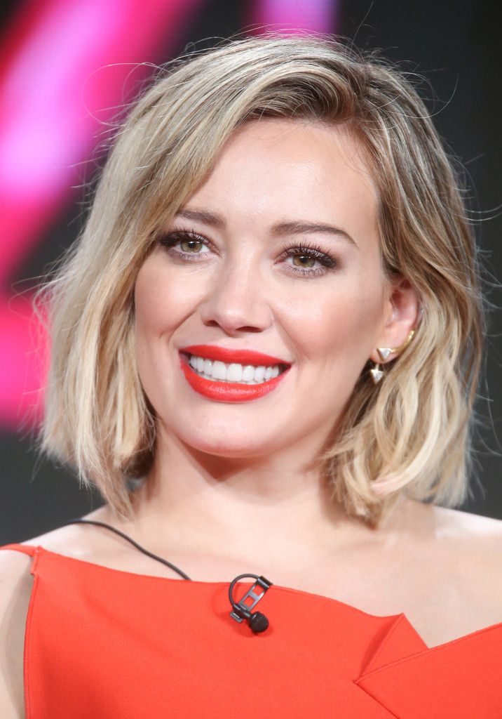 Actors Hilary Duff speaks onstage during the TV LAND - Younger panel as part of the Viacom portion of This is Cable 2016 Television Critics Association Press Tour at Langham Hotel on January 6, 2016 in Pasadena, California.