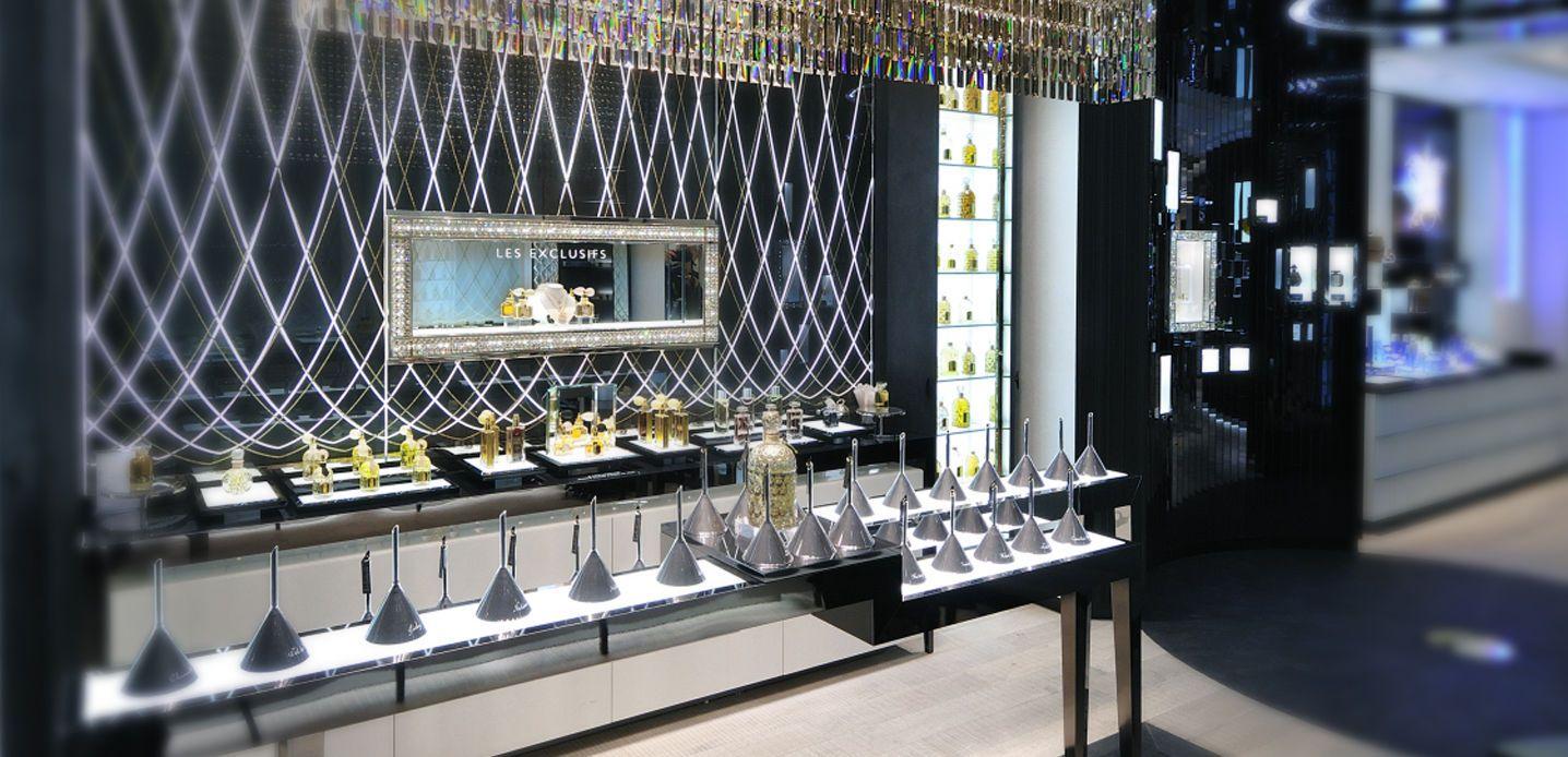 68 champs elys es the boutique feel guerlain fragrance display pinterest. Black Bedroom Furniture Sets. Home Design Ideas
