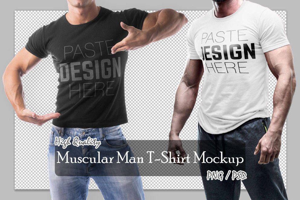 Download Png Psd Muscular Man T Shirt Mock Up 2 Different Views Apparels Mock Up High Resolution Mock Ups 300 Dpi Insta Shirt Mockup Mens Tshirts Muscular Men