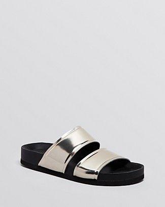 Vince Flat Slide Sandals - Orion 2