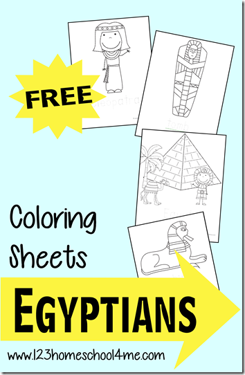 FREE Ancient Egyptian Coloring Sheets - super cute coloring pages ...