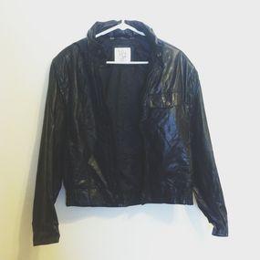 vintage genuine leather jacket on Bib + Tuck / FOR SALE
