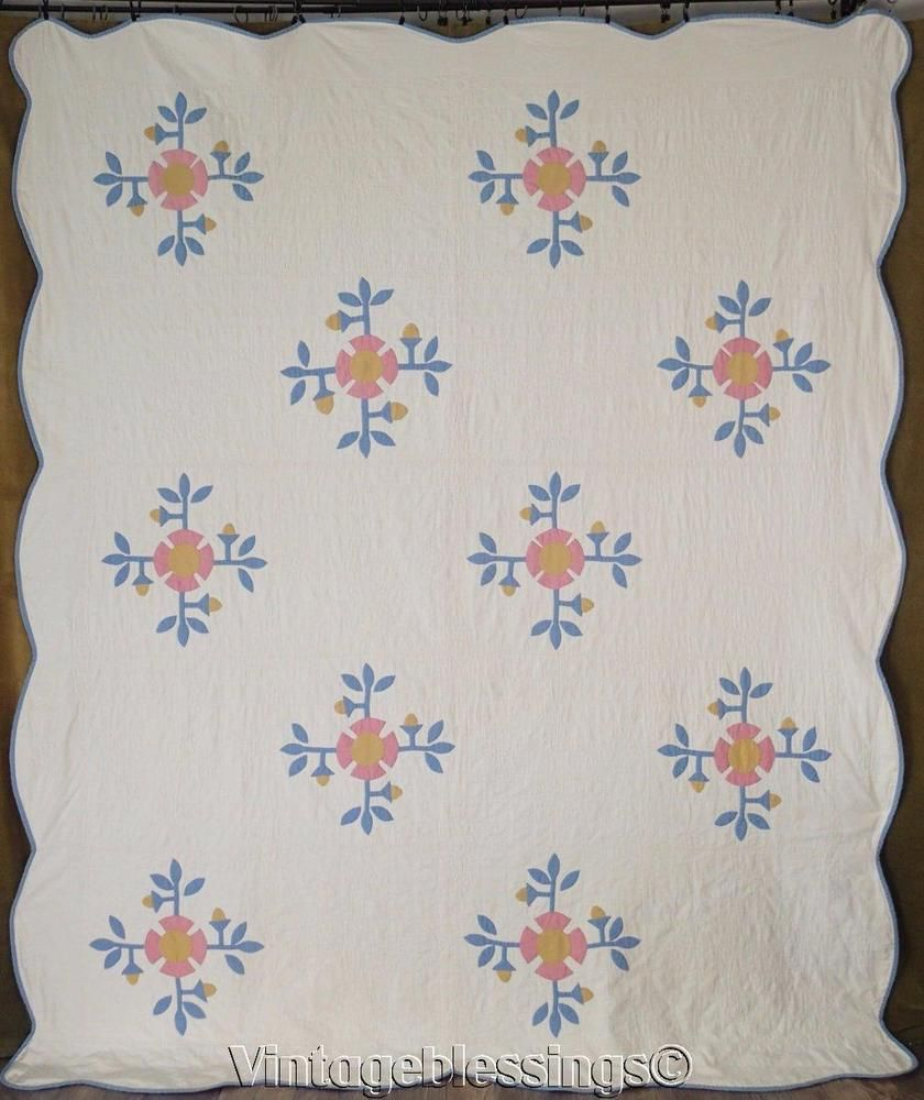handmade white for gift sale cottage to grey blue pin quilt ship geometric anniversary quilts cottages floral throw ready