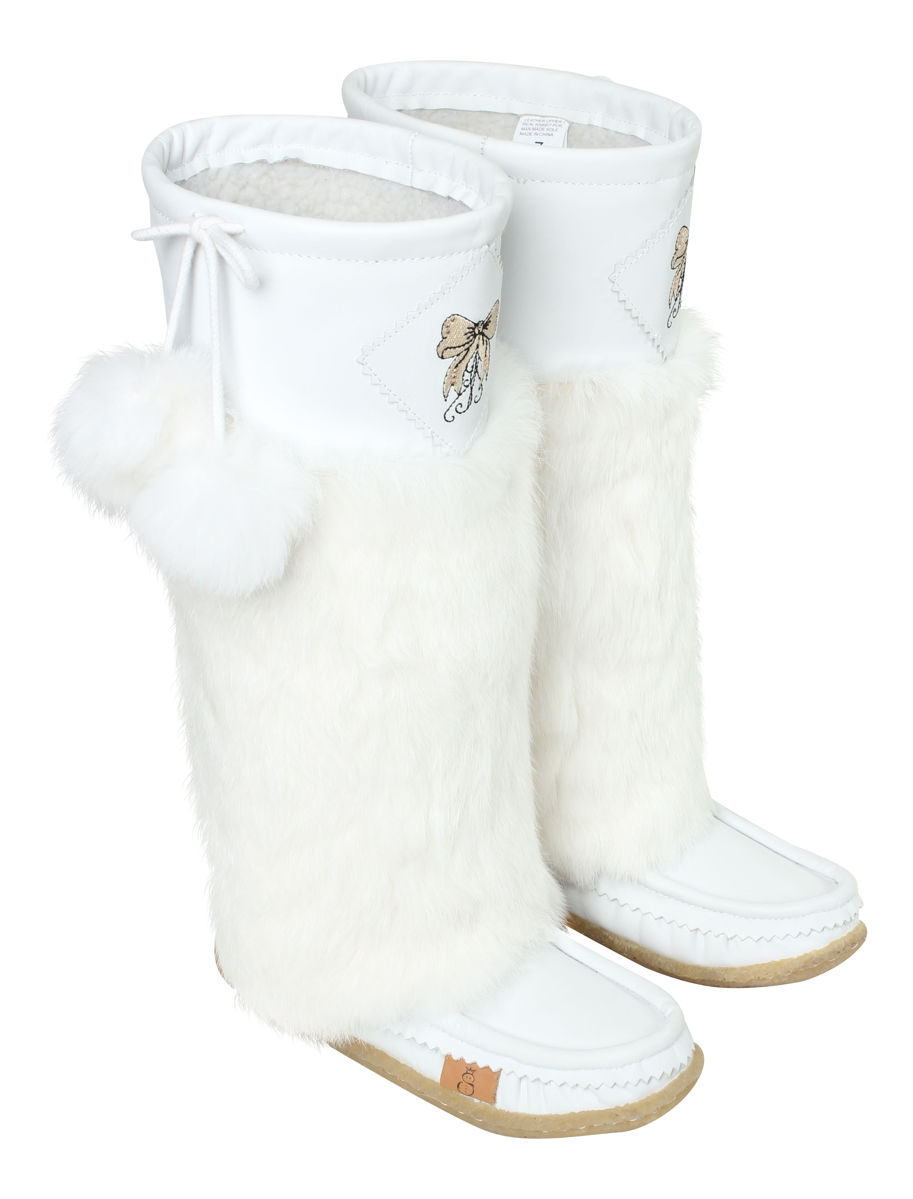 cf02de7235a Lukluks mukluks white leather womens boots Luxury boots #lukluks www ...