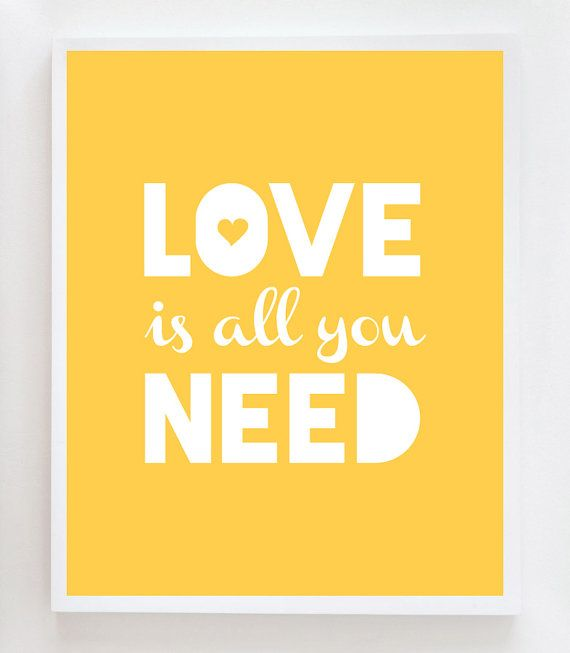 8x10 Love Quote Wall Art Print - in aqua maybe even in 5x7 for ...
