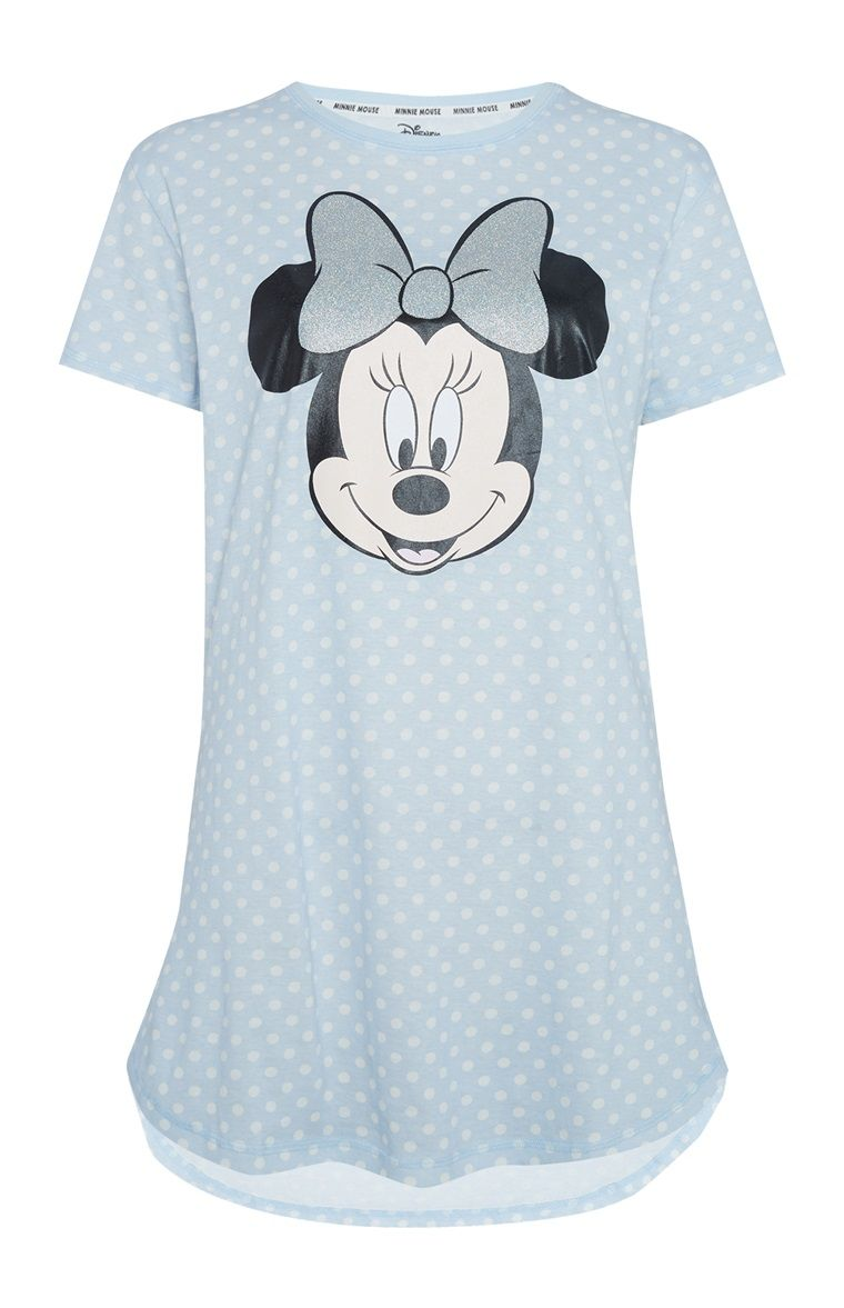 Primark Ladies Aristocat Marie Polka Dot Nightdress Blue Long T-shirt Nighty