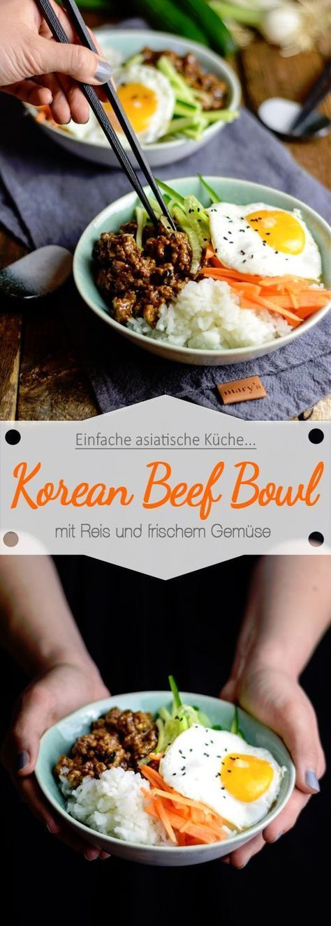Photo of Korean Beef Bowl – Asian marinated meat with fresh vegetables and rice – Ina Eats