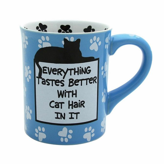 Pottery Mugs - Cat Hair Mug - Our Name Is Mud Hand Painted Giftware ONM4026110 #FineGifts #PotteryMugsGiftOurNameIsMud