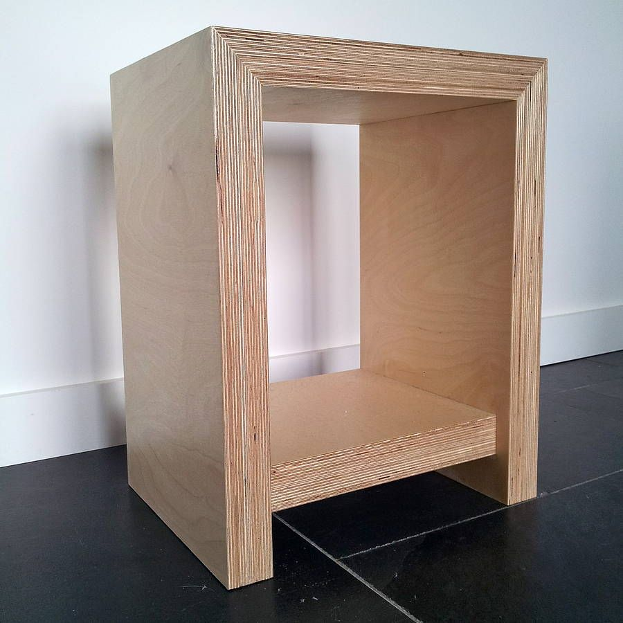 Chunky Plywood Bedside Table | Plywood, Plywood furniture and Woods