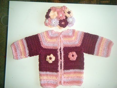 caf70132d5e2 How to crochet a chunky star stitch baby cardigan   sweater   jumper ...
