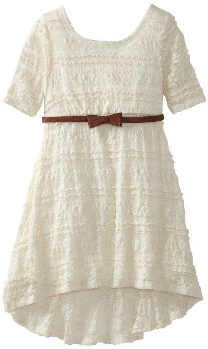 Amazon.com: My Michelle Girls 7-16 Hi Low Dress: Clothing ...