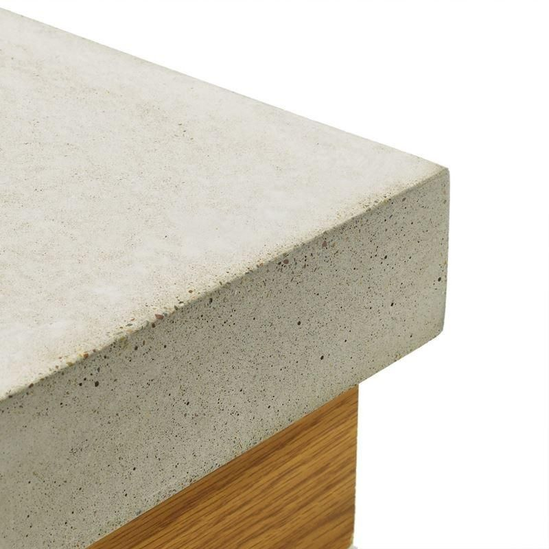Concrete Countertop Cast In Place Forms Flat Square Edge